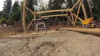 Beach Wood Timber Frame Carport Build Part 1