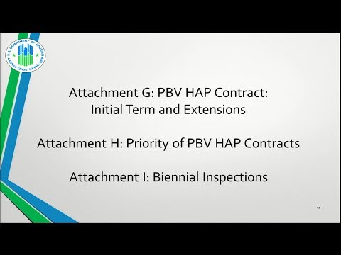 8 Attachments G, H, I  PBV HAP Contract Initial Term And Extensions; Priority Of PBV HAP Contracts;
