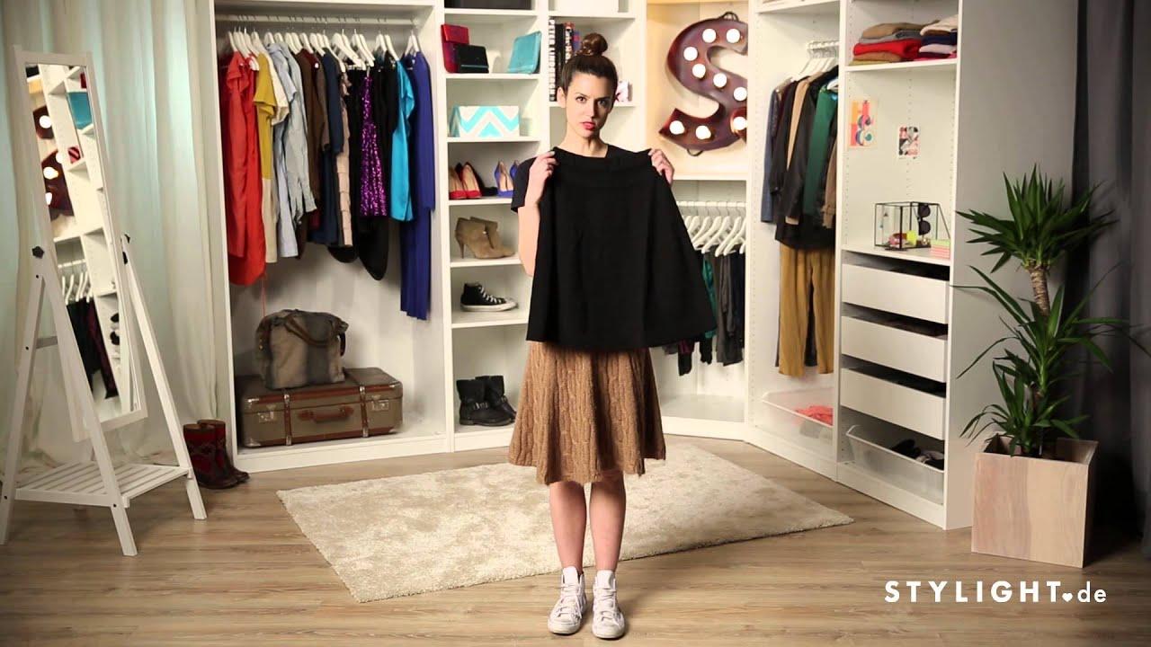 fashion tutorial wie kombiniert man einen tellerrock stylight how to wear youtube. Black Bedroom Furniture Sets. Home Design Ideas