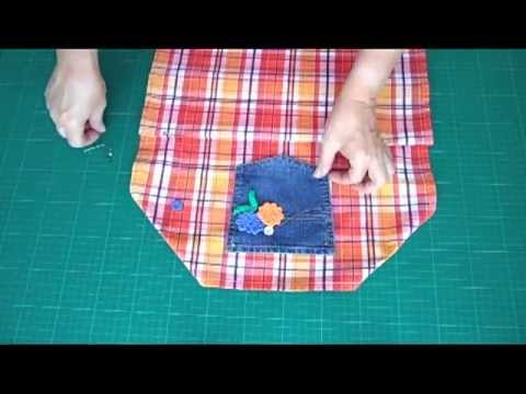 Tolle Kinderschürze selbstgemacht - OWIMO Design Upcycling - YouTube