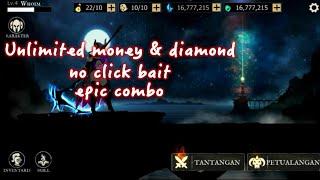 Shadow of death : stickman fighting - game offline mod unlimited money & diamond #rpgoffline screenshot 1