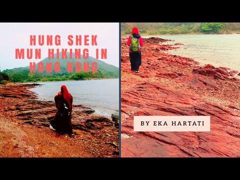 Hung Shek Mun Hiking in Hong Kong ( Batu Karang Berwarna Merah di Pantai Hong Kong )