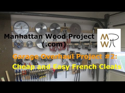 13 - Cheap and Easy French Cleats - Manhattan Wood Project