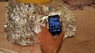 видео Телефоны CDMA и GSM тест на качество сигнала через фольгу