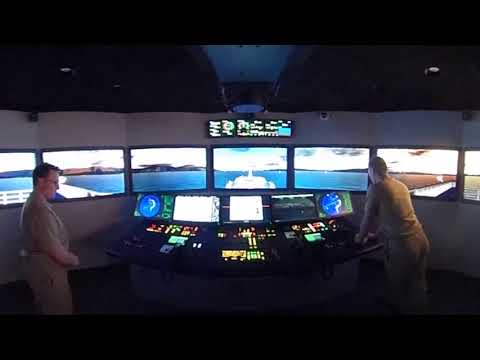 (Virtual Reality) MMA Bridge Simulator Team at Work