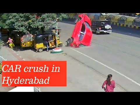 Today breaking news car crush at Gachibowli Hyderabad... Manna Malakar