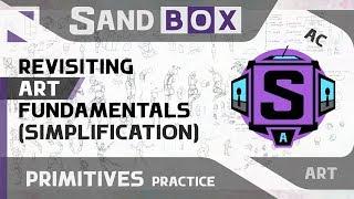 (Человек и Одежда Упрощение) Сессия 65 - Creative Sandbox [RUS/eng] (Пересмотр основ рисования)