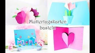 Pop Up Muttertagskarten basteln - 4 coole Ideen