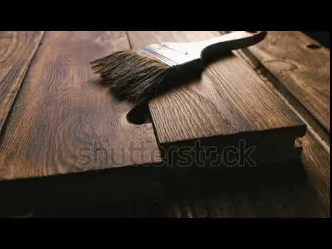 Wooden Boards And Brush. Close-up.