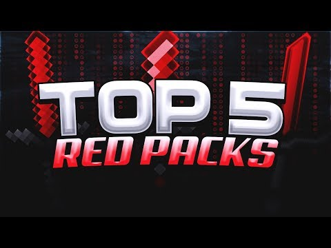 Top 5 BEST RED Packs For Minecraft SKYWARS! (FPS)