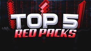 Top 5 BEST RED Packs for Minecraft SKYWARS! (FPS)