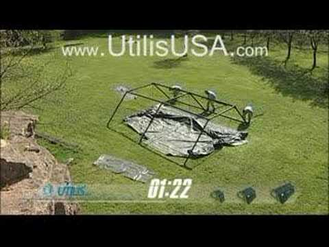 Utilis USA Military Tent Timed Set-Up Video - YouTube