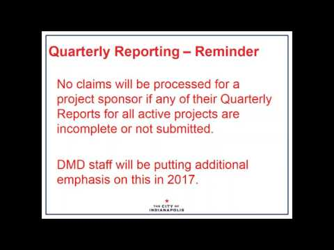 Quarterly Reports and Monitoring