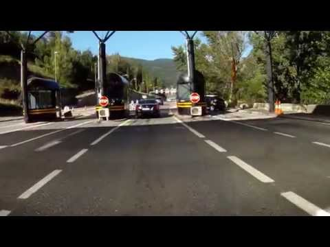 Crossing border Andorra/Spain 2014 with motorbike.