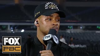 Errol Spence Jr. and Shawn Porter get into it | INTERVIEW | PBC ON FOX