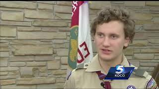 Edmond Boy Scouts, adult honored for 2015 act of heroism