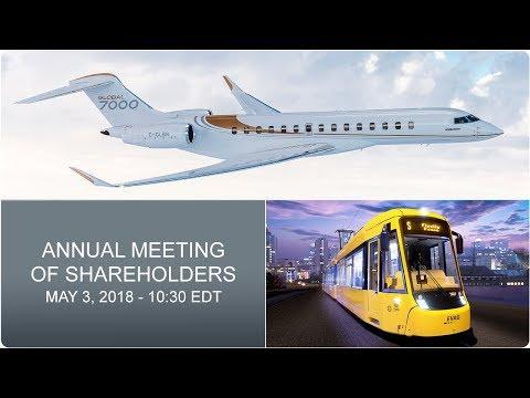 Bombardier Inc. - Annual Meeting of Shareholders 2018 (English feed)