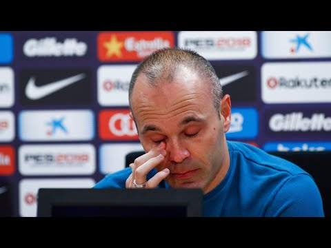 Andrés Iniesta In Tears As He Confirms Barcelona Exit After 21 Years