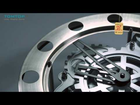 Gear Clock Dynamic Hollow Wall Clock Mechanical Appearance Metal Quartz Clock