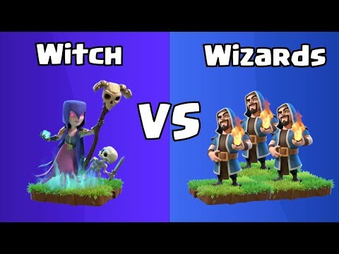 Every Level Witch VS Every Level Wizards | Clash Of Clans
