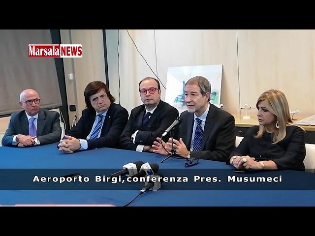 Aeroporto Birgi, conferenza stampa Pres. Musumeci