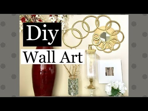 DIY Wall Art Home Decor Using Regular Items along with Dollar Tree items.