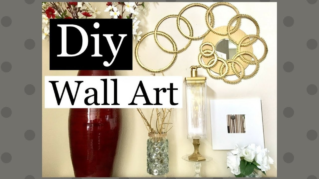 Diy Wall Art Home Decor Using Regular Items Along With Dollar Tree Items Youtube