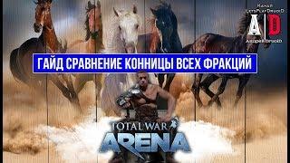 Total War: Arena 🔔 Тотал Вар Арена 🔔 ГАЙД Сравнение: Конница ВСЕХ Фракций.Особенности Отрядов