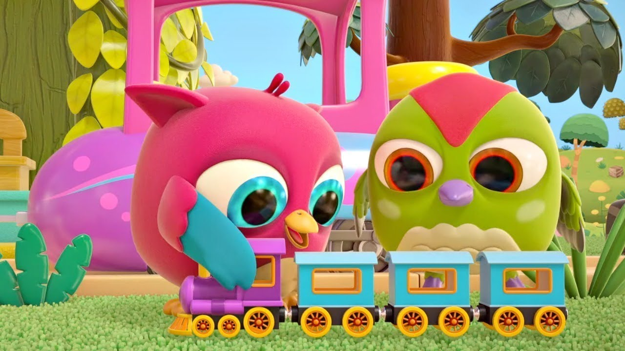 Down By the Station song! Sing-along with @Hop Hop the Owl. The Ants Go Marching & The Train song.