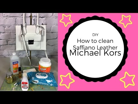 DIY ~ How To Clean Saffiano Leather Micheal Kors Handbag