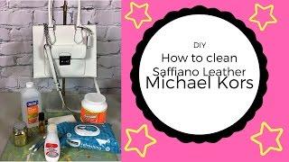 DIY ~ How To Clean Saffiano Leather Micheal Kors Handbag