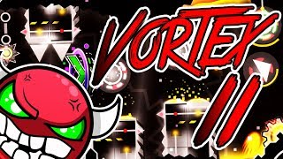 "Geometry Dash 2.11 ~ ""Vortex II"" by Albinomaster ~ FUN HARD DEMON !"