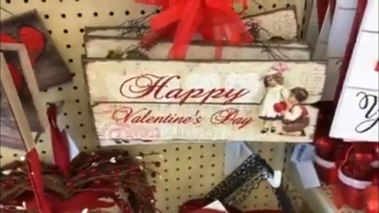 Shop With Me At Hobby Lobby Valentine S Day Decor Youtube