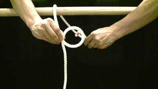 【生活の知恵】【ロープの結び方】【001】もやい結び 船の係留などに便利!