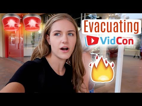 EVACUATING VIDCON, MEETING YOUTUBE FRIENDS & SHOPPING! CALIFORNIA DAY 1