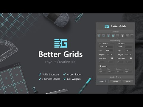 Better Grids - Layout Creation Kit For Adobe Photoshop CC+