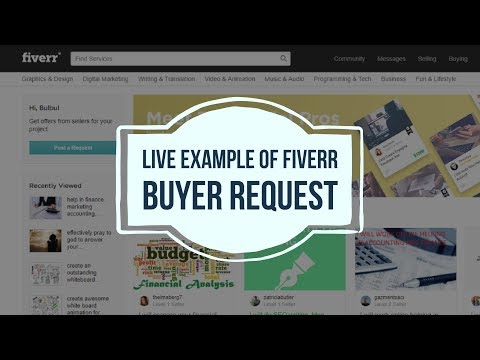Live example of Fiverr buyer request