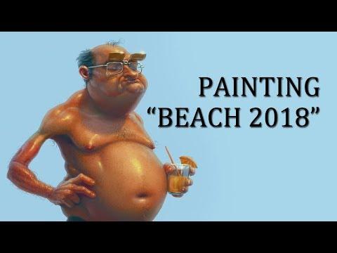 """Speedpainting - """"Beach2018"""""""