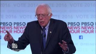 Sanders describes a goal of improving relations with Iran
