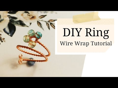 Wire Ring/DIY accessories/DIY Jewelry/Wire wrap ring tutorial - YouTube