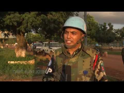 MINUSCA Military Police Patrol in Bangui-Central Africa Republic