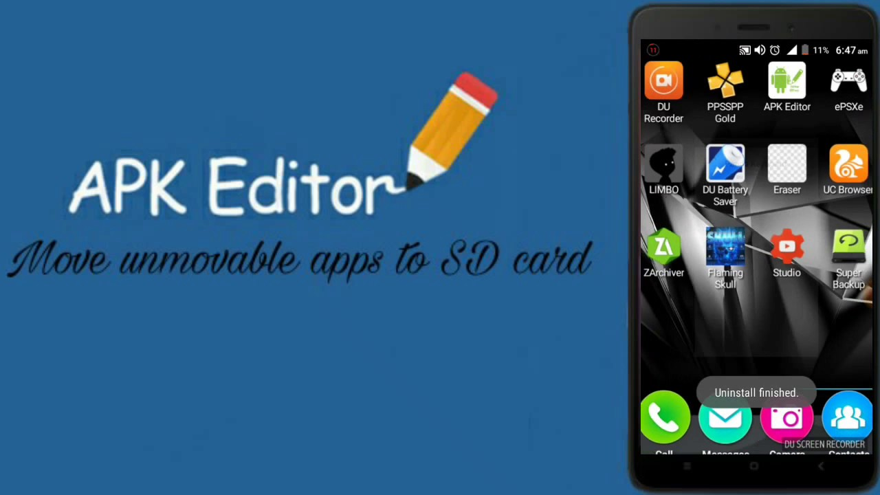 move app to sd card with apk editor