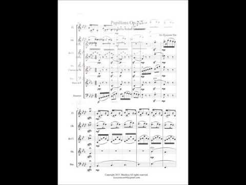R. Schumann - Papillons op.2-7 for Woodwind Quintet (Sheet Music)