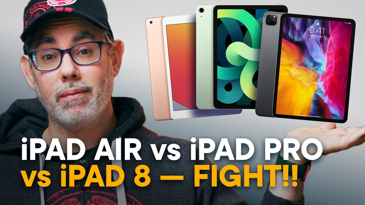 iPad Air 4 vs iPad Pro 11 vs iPad 8 — FIGHT!