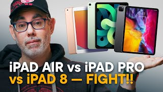 iPad Air 4 vs iPad Pro 11 vs iPad 8 - FIGHT!