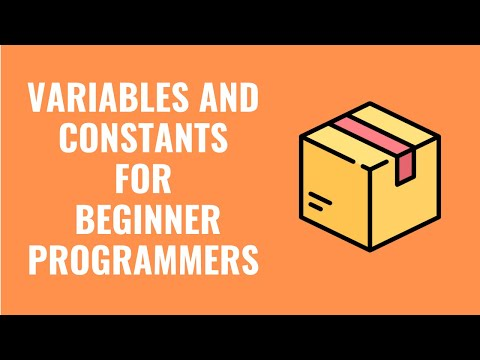 Beginning Programming - Tutorial 3 Variables, Constants and Comments