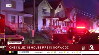 1 dead, 2 injured in Norwood house fire