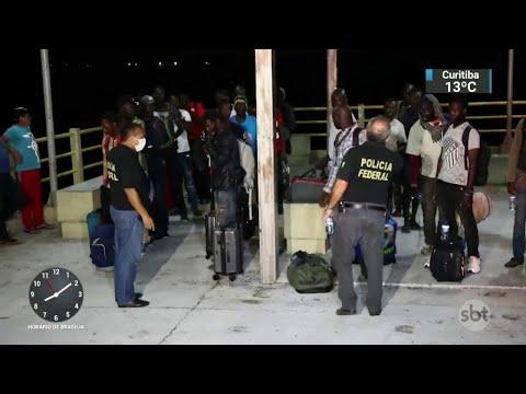 Africanos resgatados no Maranhão pedirão refúgio no Brasil | SBT Brasil (21/05/18)