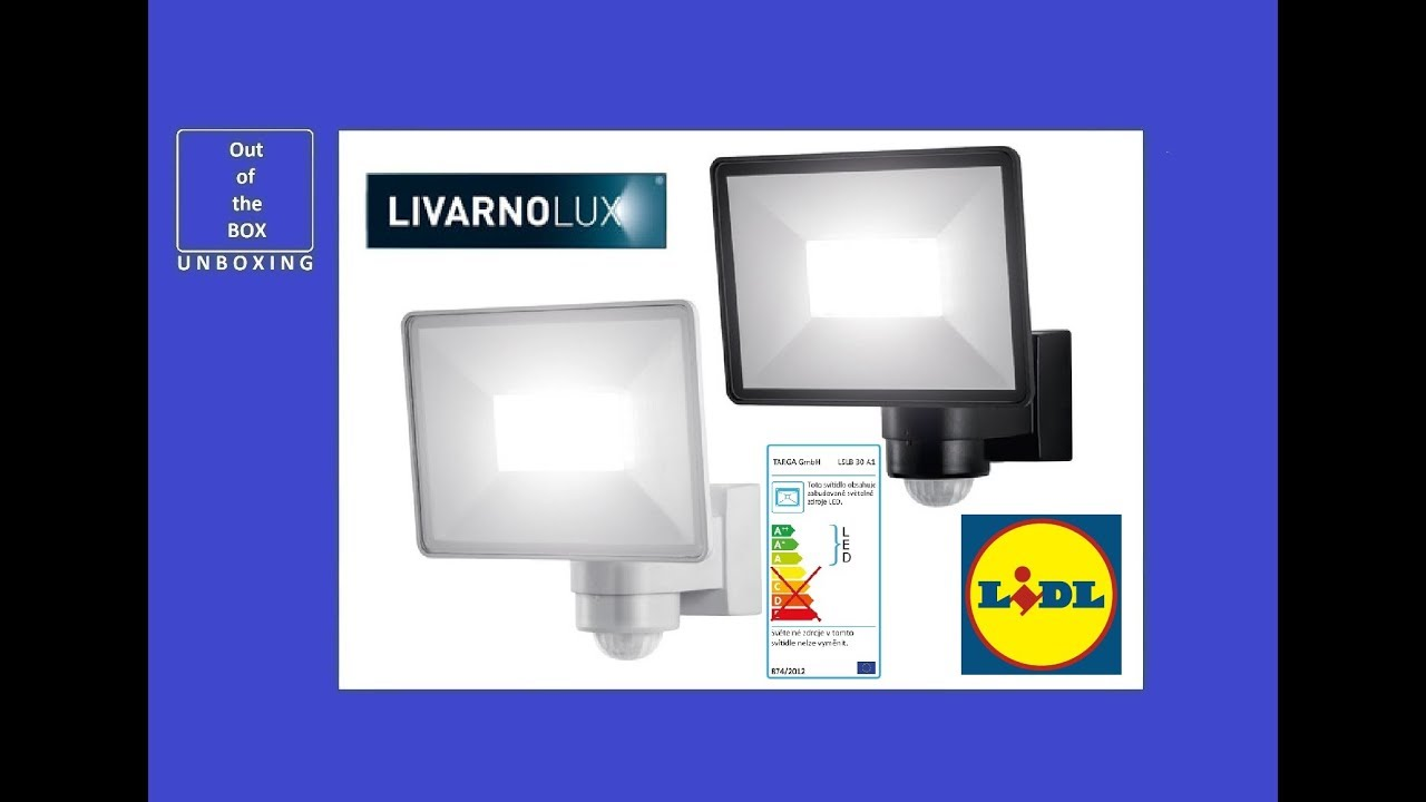 Livarno Lux Led Outdoor Light 30w Lslb 30 A1 Unboxing Lidl 30w 2400lm 180 5000k