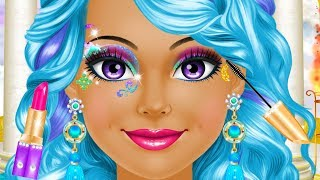 Magical Fantasy Princess Makeup Hair Colors & Style Fashion Dress UP Makeover For Girls Kids Games